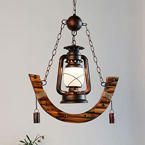 XQY Household Chandelier, Crystal Palace Ceiling Lamp, Wrought Iron Wall Lamp Rustic Kerosene Pendant Lights Creative Ceiling Chandeliers Western Restaurant Cafe Vintage Lantern Chandeliers