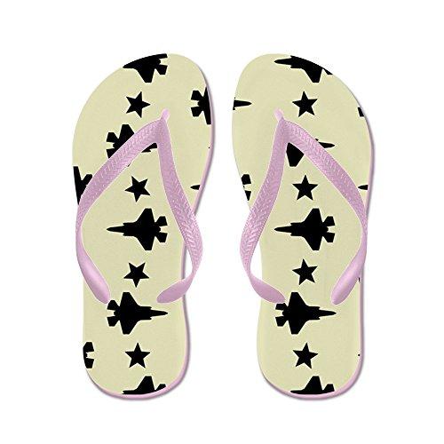 CafePress F-35 Lightning II & Stars Pattern (Sand - Flip Flops, Funny Thong Sandals, Beach Sandals