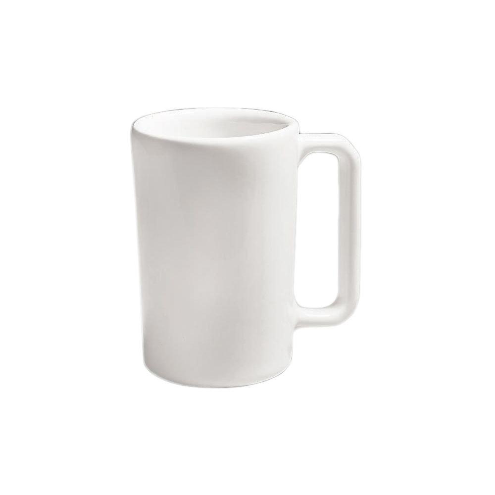 Diversified DCI132-UW Ultra White 10 Oz. Rouge Coffee Mug - 24 / CS