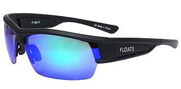 Flotadores gafas Unisex flotante, gafas de sol mate negro polarizadas verde esmeralda