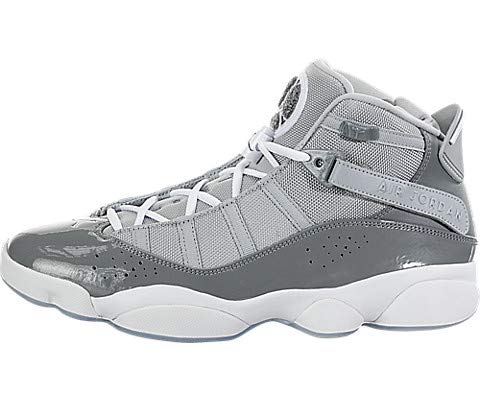 Jordan 322992-015: Men's Cool Grey/White/Wolf Grey 6 Rings Sneakers (9.5 D(M) US Men) (Men Jordan Shoes Size 6)