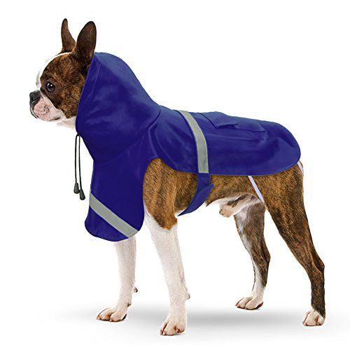 PETBABA Dog Raincoat, Reflective Safe at Night Walk, Waterproof Poncho with Hood Suitable Rainy Day, Rain Coat Jacket Slicker in Winter Cold Snow Weather - XXL in ()