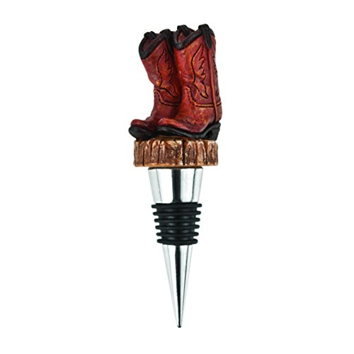 Cowboy Boot Stopper by Foster and - Wine Cowboy Boot