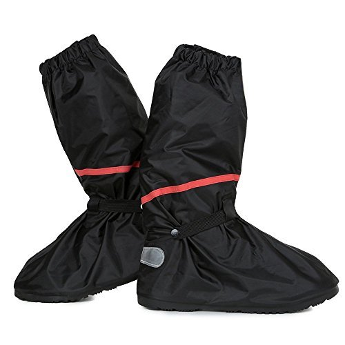 Shoe Covers,Women Men Non-slip Waterproof Zipper Rain Snow Shoes Boots Covers Reusable for Outdoor Camping Fishing Cycling Riding Bike Motorcycle Rain Suit Shoe Cover Protective Gear Travel Overshoes ()