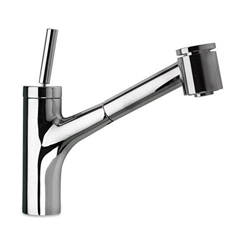 La Toscana 78CR576 Elba Joystick Kitchen Pull-Out Faucet, Chrome
