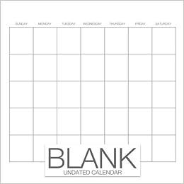 blank undated calendar undated monthly calendar book 8 5 x 8 5 12