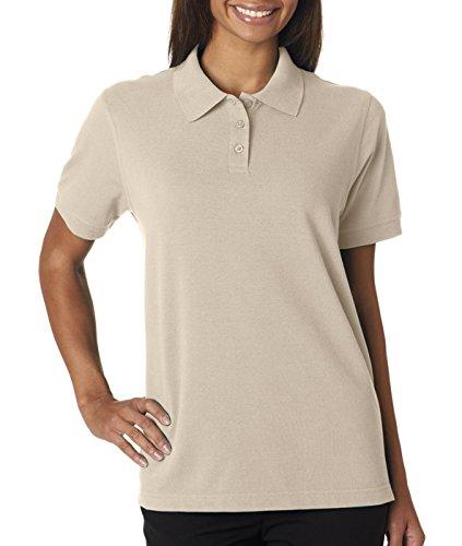 - Ultra Club Ladies' Classic Pique Polo Shirt, 2XL, Stone