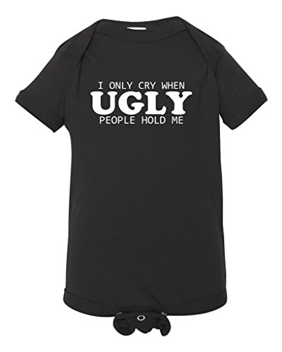 Panoware Funny Baby Bodysuits | I Only Cry When Ugly People Hold Me by Panoware
