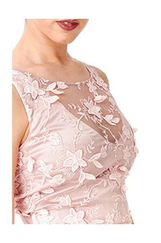 Goddiva Mujer Rosa Mangas b Para Sin Vestido TwqrxzTf