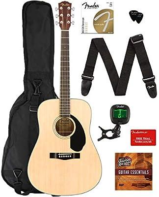 Fender CD-60S Dreadnought Acoustic Guitar - Natural Bundles