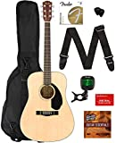 Fender CD-60S Dreadnought Acoustic Guitar - Natural Bundle with Gig...