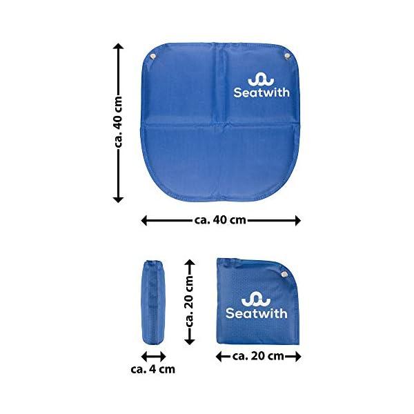 41pfuJEs0dL Faltbares Iso-Sitzkissen (40x40cm) mit Wärme isolierender ALU Unterseite + Tragetasche & Karabinerhaken für ideale…