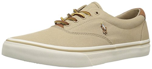 (Polo Ralph Lauren Men's Thorton Sneaker, Khaki, 11 D US)
