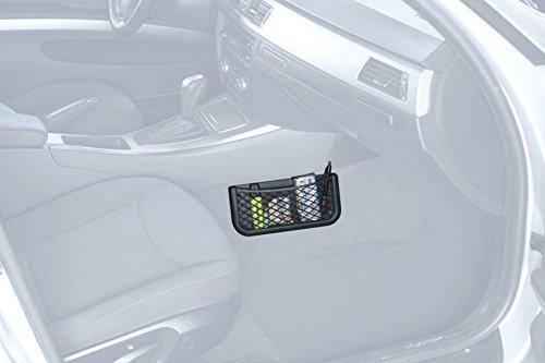 HR Universal Auto Ablagenetz 25cm - Netz Tasche zum Verstauen und Sortieren im Fahrerraum - Schwarzes Ablagefach aus…