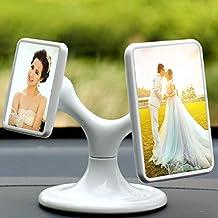 Linker Wish Magnetic Photo Frame Creative Mini White Acrylic 360 Degree Rotating Magnetic Photo