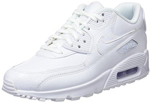 Nike WMNS Femme Blanc 90 133 Blanc de Max Beige Chaussures Air Blanc Blanc Gymnastique SBxSqR