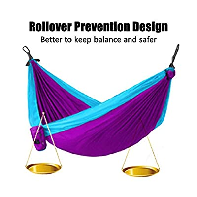 Speedy Panther Hammock Camping Double & Single with Tree Straps - Lightweight Nylon Portable Hammock Indoor Outdoor Backpacking Survival Travel Beach Yard: Sports & Outdoors