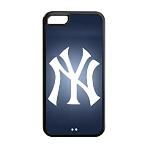 MLB New York Yankees NYY TPU Case Back Cover For Iphone 5c iphone5c-NY356