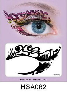 Party Eyes Temporary Lace Tattoo Lace False Eyelashes