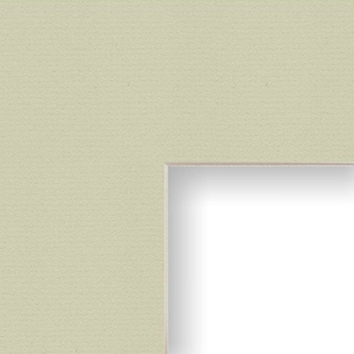 Craig Frames B253 14x16-Inch Mat, Single Opening for 9x12-Inch Image, Pale Laurel with Cream Core