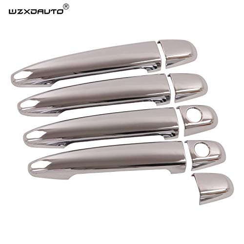 WZXDAUTO 9pcs ABS Chrome Handle Cover Trims Complete Set for Toyota 07-11 Camry 03-09 4 Runner 04-10 Sienna 4 Door 06-11 Avalon 08-11 Highlander 05-11 Tacoma 03-09 GX 470 04-09 RX330 RX350