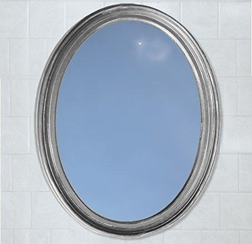 Little Company Satin Nickel Decorative Oval Framed Wall M...