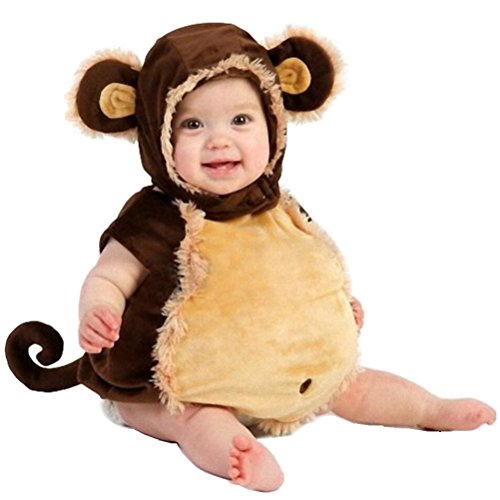 ACE SHOCK Newborn Baby Infant Cute Monkey Costume Photography Prop Outfit (80 cm (6-12 Months))