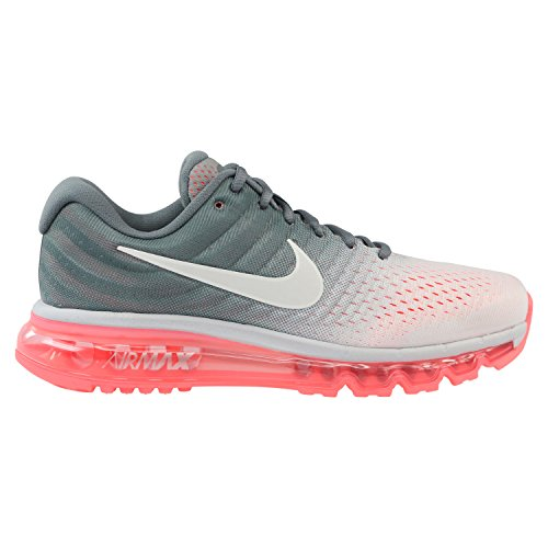 sale retailer 89996 8ba9a Galleon - NIKE Women s Air Max 2017 Running Shoe Pure Platinum White-Cool  Grey-Hot Lava 7.5