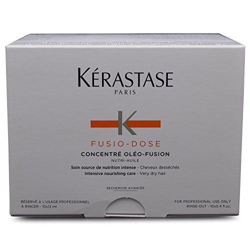 Kerastase Fusio-Dose Concentre Oleo-Fusion Nutri Huile Intenbsive Nutritive Treatment (Very Dry & Sensitized Hair) - 10x12ml/0.4oz by Kerastase