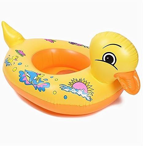 Colchón hinchable circular para natación, piscina de pato amarillo ...