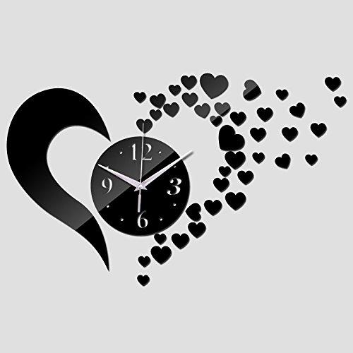 EverTrust(TM) acrylic 3d mirror Quartz watch real wall sticker home decoration fashion clock modern design clocks children