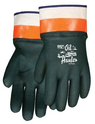Memphis Glove Oil Hauler Dark Greenpremium Double Dip Pvc - 12 Pair