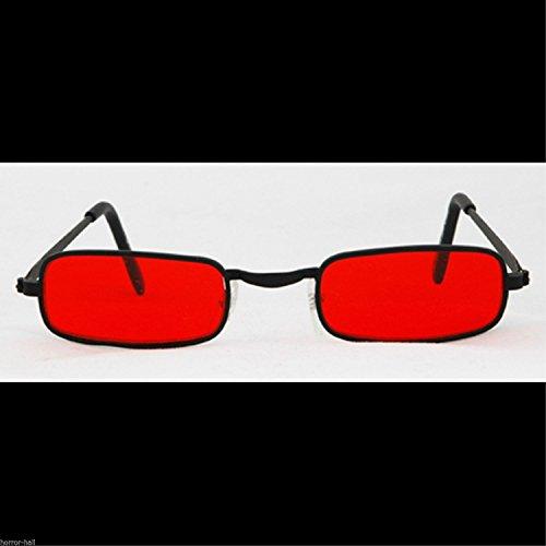 Steampunk Cosplay GOTHIC VAMPIRE SUN GLASSES Rocker Halloween costume-BLOOD RED -