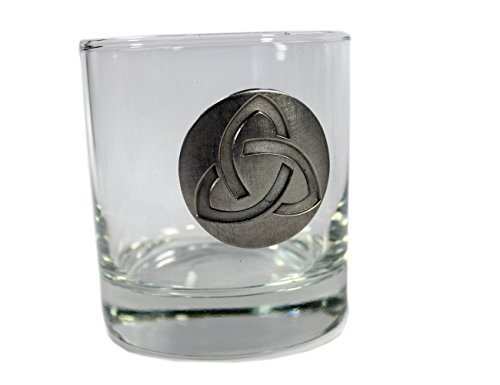 Whiskey Glasses with Pewter Celtic Symbols 4 Set by Robert Emmet Co. (Image #2)