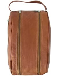 Double Compartment Shoe Bag, Saddle, One Size