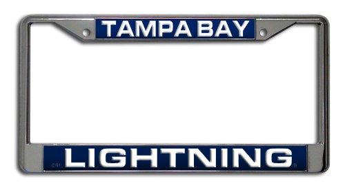 Rico Industries NHL Tampa Bay Lightning Laser Cut Inlaid Standard Chrome License Plate Frame
