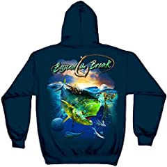 Firefighter Hooded Sweat Shirt MAHI Dolphin Fish Beyond The Break 8oz 50/50 Hooded Sweat Shirt are the perfect way to show your pride in your job or your country. Our Shirts are an easy way to daily wear t shirts that have a message. Firefigh...