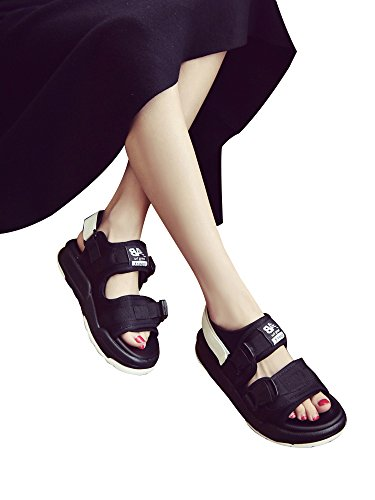 HIMOE サンダル レディース メンズ スポーツサンダル 人気 厚底 歩きやすい 男 女 カップル2色選択可 厚底サンダル 美脚 アウトドア コンフォート
