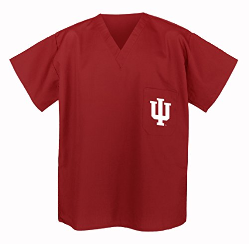 Indiana University Scrubs Top Shirt-Size SM- IU Men Ladies