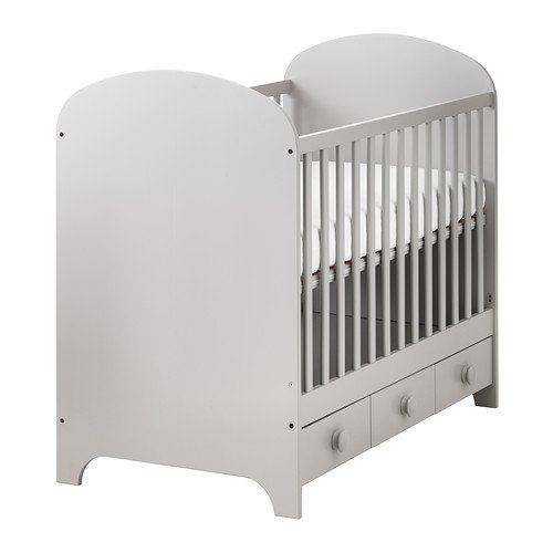 Ikea Crib, light gray 2026.172329.2234