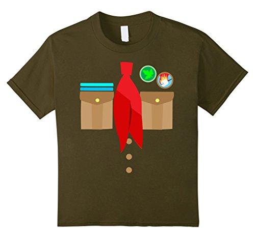 Girl Scout Costume Ideas (Kids Boy Scouts Uniform Costume Halloween Kids T-Shirt 4 Olive)