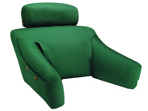 Quality Brand Company QBC Bundled Cequal Bedlounge Bed Reading Pillow - Feather and Down - Regular Size Green - Plus Free QBC Ergonomics eBook ()