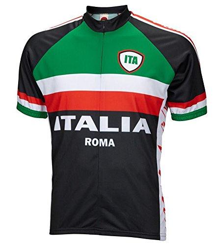 World Jerseys Italy Italia Roma Cycling Jersey Men's Large Short Sleeve