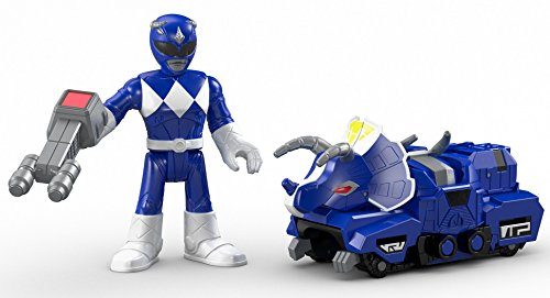 Fisher-Price Imaginext Power Rangers Battle Armor Blue Ranger (Blue Power)