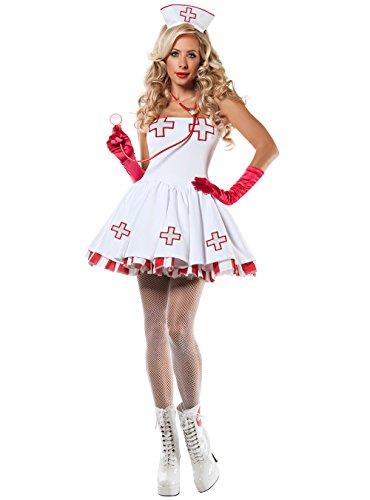 Sexy Nurse Costume - Womens Adult Halloween Naughty Head Nurse Cosplay Party Costume