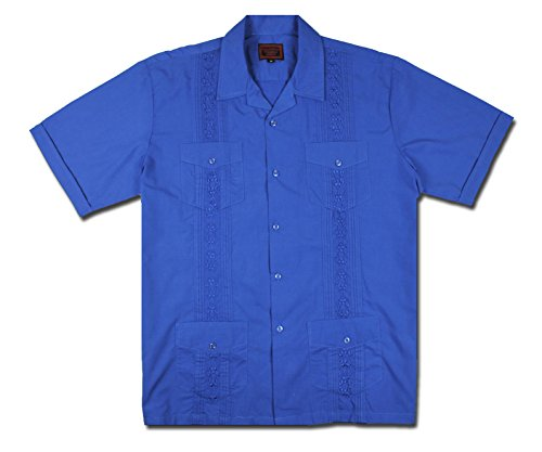 Maximos by R & B New Guayabera Kids Boys Cuban Latino Style Wedding Button Down Dress Shirt (6, Royal (Kids Royal Blue Apparel)