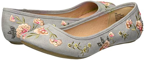 UNIONBAY Women's Tina Ballet Flat, Dove Grey, 7 M US by UNIONBAY