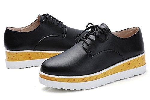 Ms Spring zapatos elevadores pendiente con corteza gruesa Sra zapatos zapatos para muffins calzado casual británicos , US7.5 / EU38 / UK5.5 / CN38