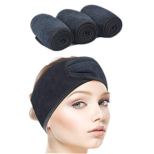 Sinland Facial Spa Headband For Washing Makeup Cosmetic Shower Soft Women Hair Band 3 Pack