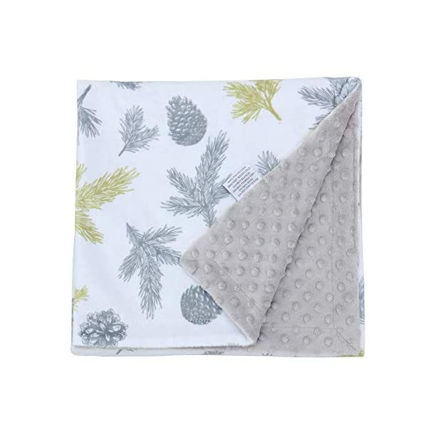 Millian Baby Minky Dot Warm Baby Blanket (X-Large) Soft, Plush, Double-Layered Comfort | Gender Neutral Receiving Blankie for Boys and Girls